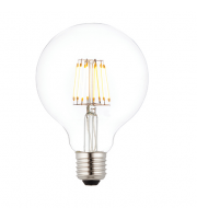 Saxby Lighting E27 LED filament globe dimmable 95mm 7W warm white (Clear)