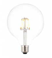 Saxby Lighting E27 LED filament globe dimmable 125mm 7W warm white (Clear)