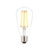 Saxby Lighting E27 LED filament pear dimmable 6W warm white (Clear)