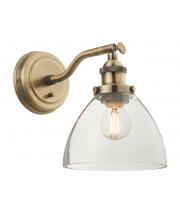 Endon Lighting Hansen 1lt wall 40W (Antique Brass) SALE