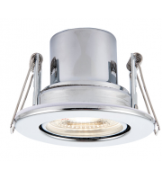 Saxby Lighting ShieldECO 800 Tilt 8.5W cool white (Chrome)