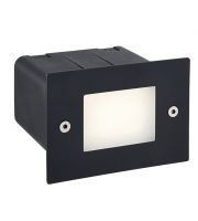 Saxby Lighting Seina half brick IP44 2W cool white (Black)