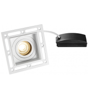 Saxby Lighting Trimless Downlight square 7W (Matt White)