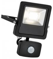 Saxby Lighting Surge PIR 10W IP44 20W cool white (Matt Black)