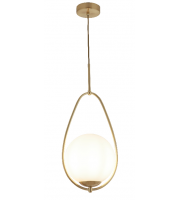 Searchlight Avalon 1LT Ball Pendant Gold With Opal Glass