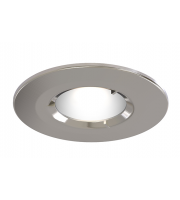 Ansell Edge Frd IP65 GU10 Satin Chrome Downlight