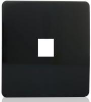 RED ARROW 2 Gang Pc Ethernet Socket (Black)