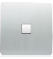 RED ARROW 1 Gang Pc Ethernet Socket (Silver)