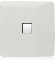 RED ARROW 1 Gang Pc Ethernet Socket (White)