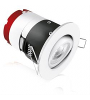 Aurora mPro Adjustable 7W Dimmable IP65 LED Downlight (Matt White)