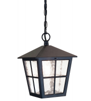 Elstead Canterbury 1 Light Grande Chain Lantern (Black)
