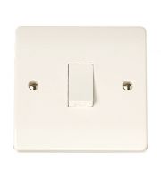 Click Scolmore 1-GANG 1-WAY 10A Plate Switch