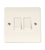 Click Scolmore 2-GANG 2-WAY 10A Plate Switch