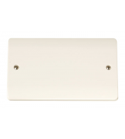 Click Scolmore 2-GANG Blank Plate