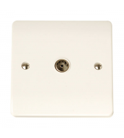 Click Scolmore Coaxial Socket Single Outlet