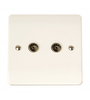 Click Scolmore Coaxial Socket Twin Outlet