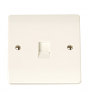 Click Scolmore Flush Telephone Outlet Irish/us
