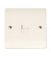 Click Scolmore 1G Single Tel. outlet