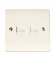 Click Scolmore 1G Twin Tel. outlet M
