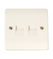 Click Scolmore 1G Twin Tel. outlet S