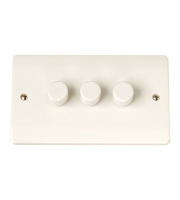 Click Scolmore 3GANG 2WAY 250W Dimmer Switch
