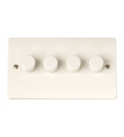 Click Scolmore 4GANG 2WAY 250W Dimmer Switch