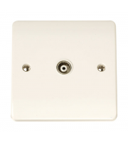 Click Scolmore Isolated Coaxial Socket Single Outlet