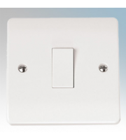 Click Scolmore 10AX 1 Gang 1 Way Plate Switch (White)