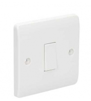 Click Scolmore 10AX 1 Gang 2 Way Plate Switch (White)