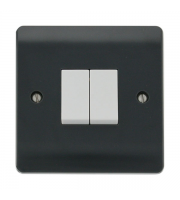 Click Scolmore 10AX 2 GANG 2 WAY SWITCH