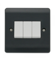 Click Scolmore 10AX 3 GANG 2 WAY SWITCH