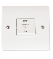 Click Scolmore 10A 3 Pole Fan Isolation Switch (White)