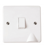 Click Scolmore 1-GANG 2-POLE 20A Switch With F/outlet