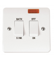 Click Scolmore 20A On/off Sink/bath Switch