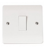 Click Scolmore 10AX 1 Gang Intermediate Plate Switch (White)