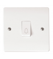 Click Scolmore 1-GANG 1 Way 10A Retractive Switch Bell
