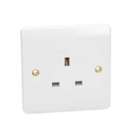 Click Scolmore 13A 1 Gang Unswitched Socket (White)