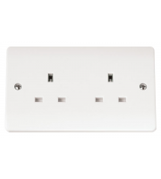 Click Scolmore 2-GANG 13A Socket Outlet
