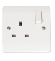 Click Scolmore 13A 1 Gang Dp Switched Socket (White)
