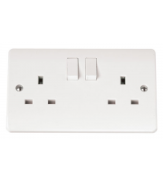 Click Scolmore 13A Dp Switched Socket With Clean Earth