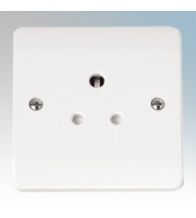 Click Scolmore 5A Round Pin Socket (White)