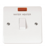 Click Scolmore 1-GANG D/p 20A Water Heater Switch With