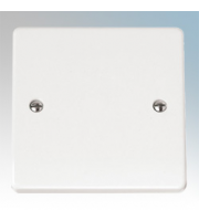 Click Scolmore 1 Gang Blank Plate (White)