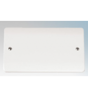 Click Scolmore 2 Gang Blank Plate (White)