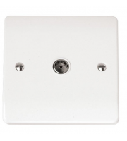 Click Scolmore Non-isolated Single Coaxial Outlet (unshielded) (White)