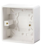 Click Scolmore 1 Gang 35mm Deep Pattress Box (White)