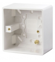 Click Scolmore 1 Gang 47mm Deep Pattress Box With Earth Terminal (White)