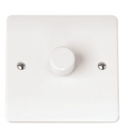 Click Scolmore 1 Gang 2 Way 400Va Dimmer Switch (White)