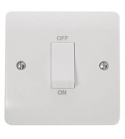 Click Scolmore 45A 1 Gang Dp Switch With White Rocker (White)