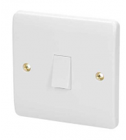 Click Scolmore 20A Dp Switch Without Flex Outlet (White)